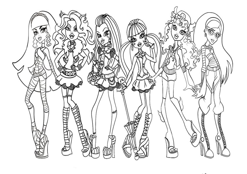 ausmalbild monster high